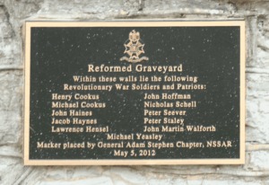 Christ Reformed Church Graveyard, Shepherdstown, WV. Plaque courtesy of the Daughters of the American Revolution.